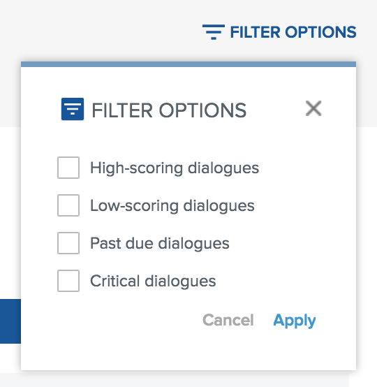 Let's Talk! filter options