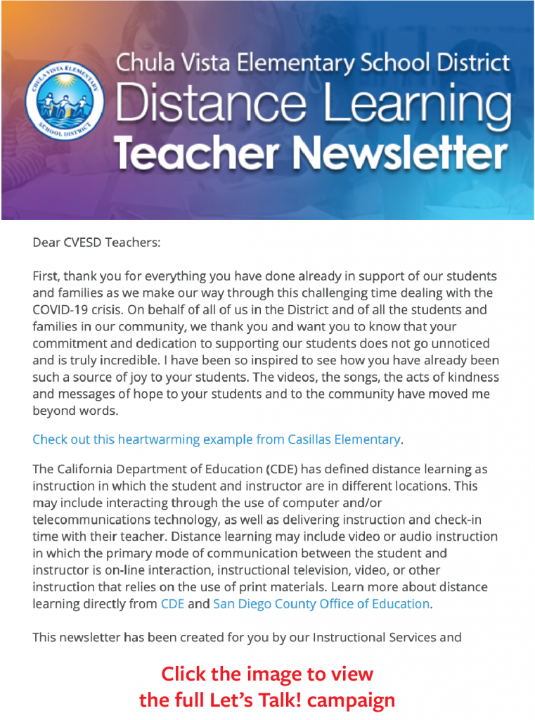 CVESD teacher newsletter